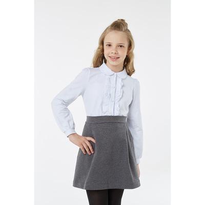 Блузка для девочки, рост 128 см, цвет белый 2S6-002-11811