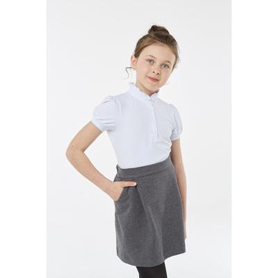 Блузка для девочки, рост 152 см, цвет белый