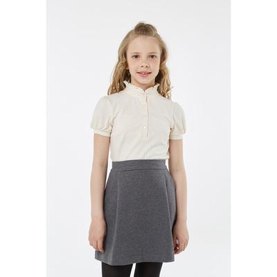 Блузка для девочки, рост 140 см, цвет экрю