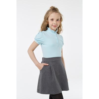 Блузка для девочки, рост 122 см, цвет голубой