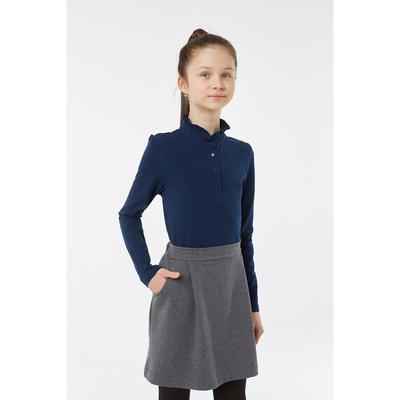 Блузка для девочки, рост 146 см, цвет синий