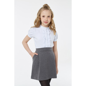 Блузка для девочки, рост 134 см, цвет белый Ош