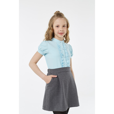 Блузка для девочки, рост 134 см, цвет голубой 2S6-005-11811