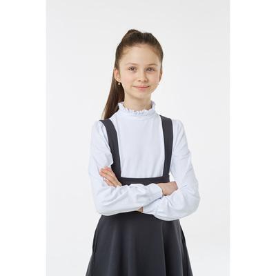 Блузка для девочки, рост 134 см, цвет белый
