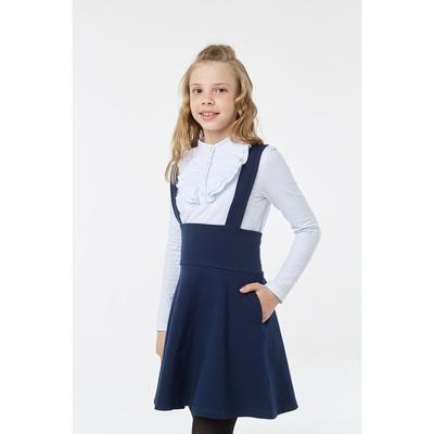 Блузка для девочки, рост 128 см, цвет белый
