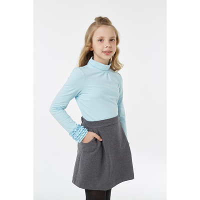 Водолазка для девочки, рост 128 см, цвет голубой