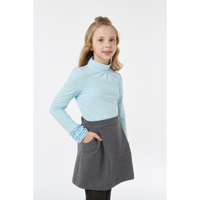 Водолазка для девочки, рост 140 см, цвет голубой