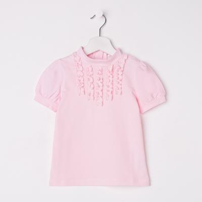 Блузка для девочки, рост 140 см, цвет розовый