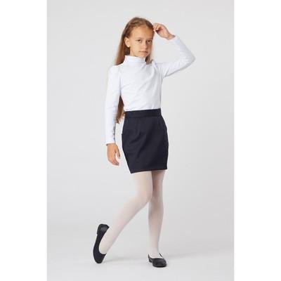Водолазка для девочки, рост 134 см, цвет белый