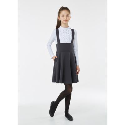 Юбка для девочки, рост 122 см, цвет серый