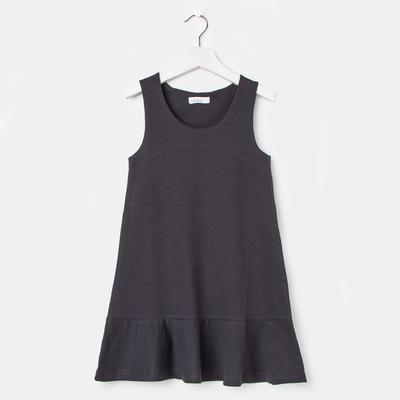 Сарафан для девочки, рост 128 см, цвет серый
