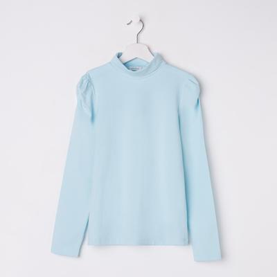 Водолазка для девочки, рост 134 см, цвет голубой
