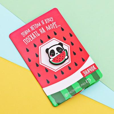 "Значок с открыткой ""Панда"""