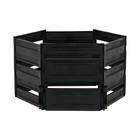 Компостер пластиковый, 600 л, 125 × 105 × 70 см, чёрный