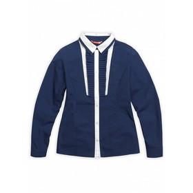 Школьная блузка для девочки, рост 158 см, цвет синий