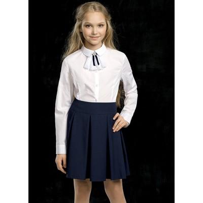 Блузка для девочки, рост 158 см, цвет белый