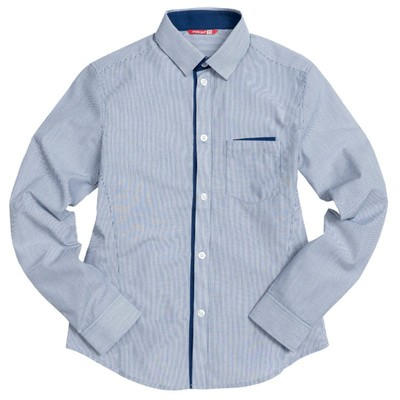 Сорочка верхняя для мальчика, рост 122 см, цвет синий