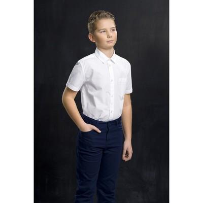 Сорочка верхняя для мальчика, рост 140 см, цвет белый