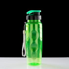 Бутылка для воды 650 мл, спортивная, на шнурке, 7х23 см, микс в Донецке