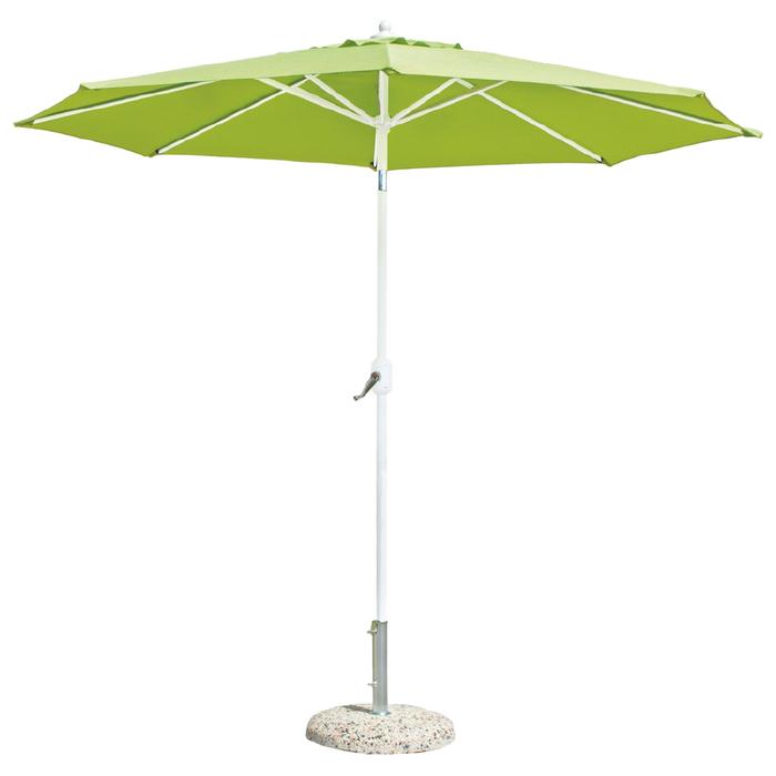 Зонт пляжный «ТУРИН», цвет белый/зелёный, d=270 см
