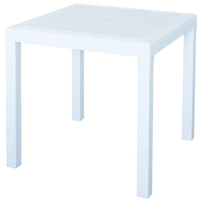 Стол (искусственный ротанг) Dallas Nebraska, столешница 80 х 80 см, высота 74 см, цвет белый