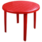 Стол круглый размер 900х900х750, цвет красный