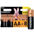 Батарейка алкалиновая Duracell Basic, AA, LR6-8BL, 1.5В, блистер, 8 шт. - фото 7486