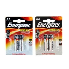 Батарейка алкалиновая Energizer Max +PowerSeal, AA, LR6-2BL, 1.5В, блистер, 2 шт.
