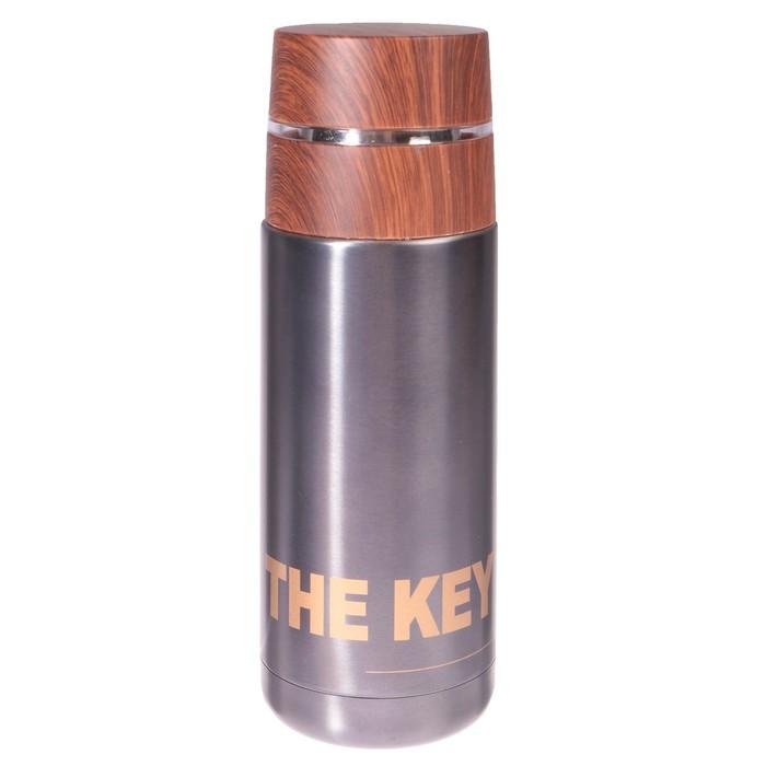 "Термос ""Ключ к успеху"", 350 мл, 304 сталь, сохраняет тепло 8 ч, 8.5х6х19.5 см, микс"