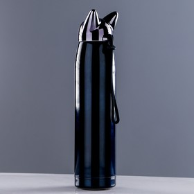 "Термос ""Кошка"", 320 мл, сохраняет тепло 8 ч, на шнурке, микс, 6х25 см - фото 1965105"