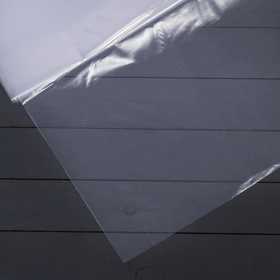 Плёнка полиэтиленовая, толщина 150 мкм, 3 × 10 м, рукав (1,5 м × 2), прозрачная, 1 сорт, Эконом 50 %