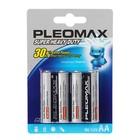 Батарейка солевая Pleomax Super Heavy Duty, AA, R6-4BL, 1.5В, блистер, 4 шт. - фото 7499