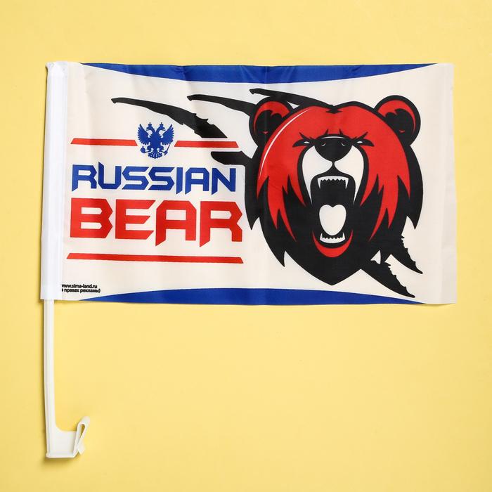 Набор флагов на кронштейне Russian bear, 40х24, 2 шт