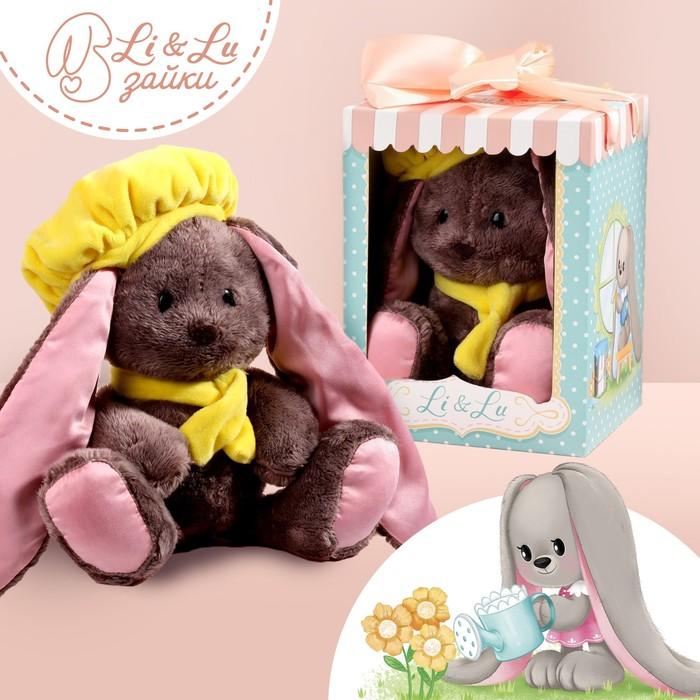 Мягкая игрушка зайка «Li путешественница»