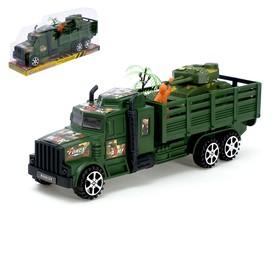 Машина инерционная «Военная», с танком и солдатиком