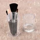 Набор кистей для макияжа, 4 предмета, 8,5см, цвет чёрный