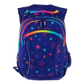 Рюкзак молодёжный Yes T-27 45 х 26 х 20 см, эргономичная спинка, Alluring, синий