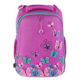 Рюкзак каркасный YES H-12 38*29*15 для девочки Butterfly, розовый 554492