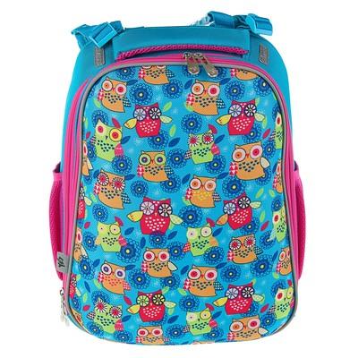 Рюкзак каркасный YES H-12 38*29*15 для девочки, Owl, голубой