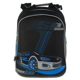 Рюкзак каркасный YES H-12 38 х 29 х 15 см, для мальчика, SP, серый