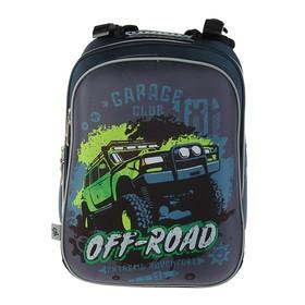 Рюкзак каркасный YES H-12 38 х 29 х 15 см, для мальчика, Off-road, серый