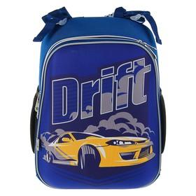Рюкзак каркасный YES H-12 38 х 29 х 15 см, для мальчика, Drift, синий