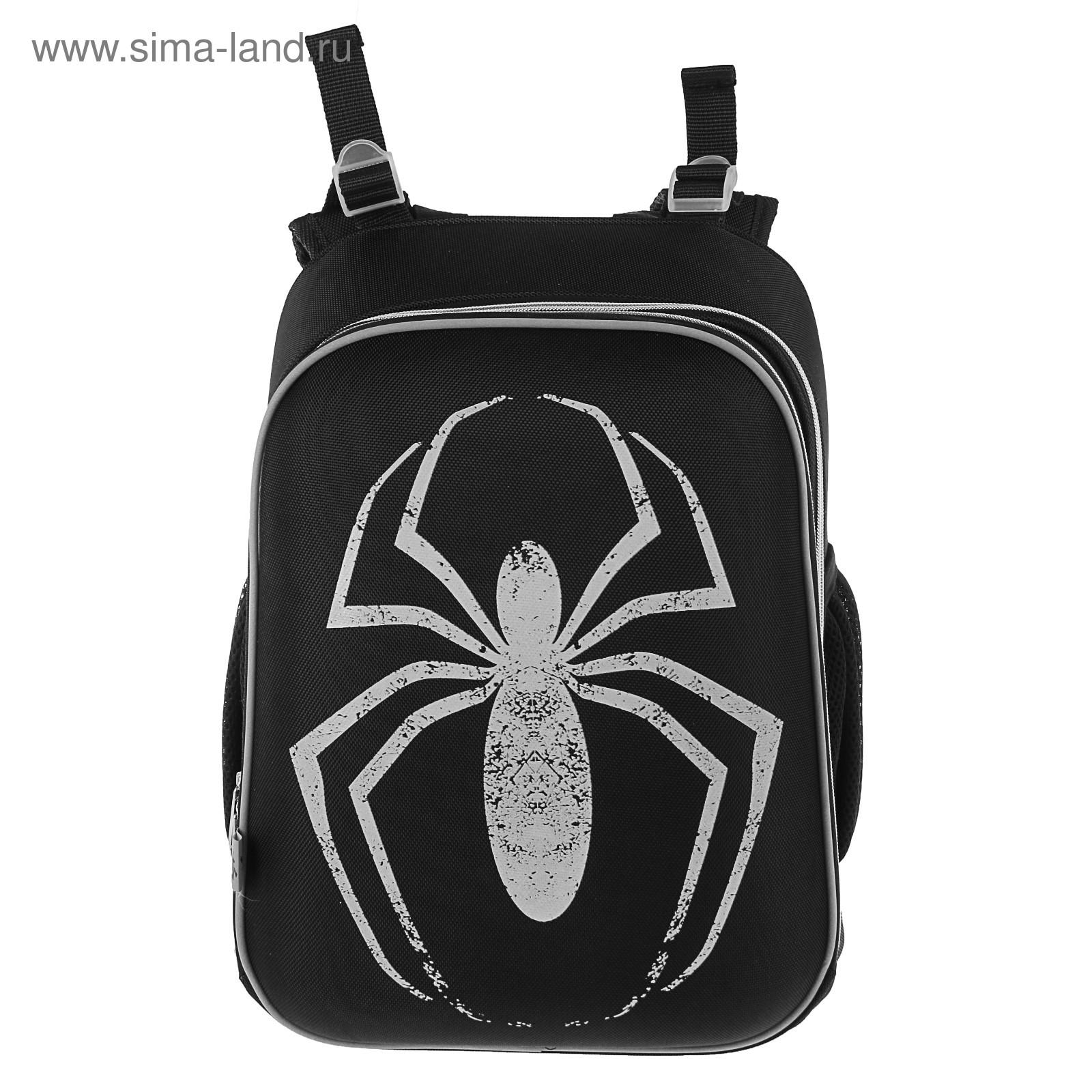 03a8253dd58f Рюкзак каркасный YES H-12 38*29*15 для мальчика Spider, чёрный/серый ...
