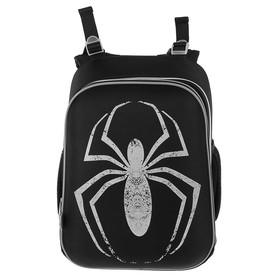 Рюкзак каркасный YES H-12 38 х 29 х 15 см, для мальчика, Spider, чёрный/серый