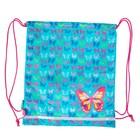 Мешок для обуви 400х350 мм для девочки Smart SB-01 Butterfly blue 555358