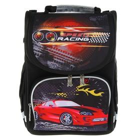 Ранец Стандарт Smart PG-11, 34 х 26 х 14 см, для мальчика, Speed racing, чёрный
