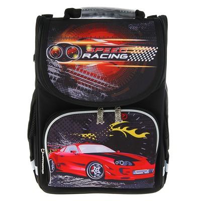 Ранец Smart PG-11 34*26*14 для мальчика, Speed racing, черный