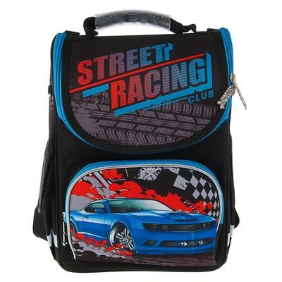 Ранец Smart PG-11 34*26*14 для мальчика, Street racing, серый/черный