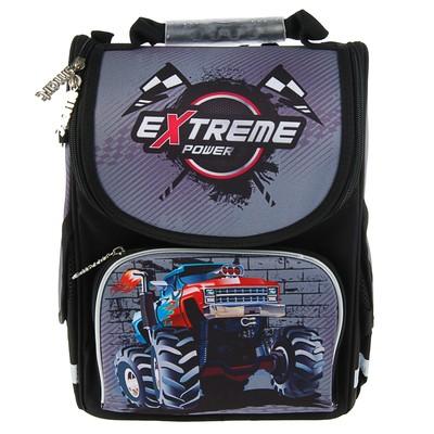Ранец Smart PG-11 34*26*14 для мальчика, Extreme power, серый/черный