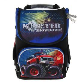 Ранец Стандарт Smart PG-11, 34 х 26 х 14 см, для мальчика, Monster showdown